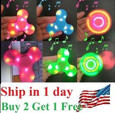 Bluetooth Speaker LED Fidget Spinner Hand Spinner Pair w Phone Plays Music
