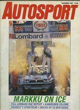Autosport Dec 1st 1988 *RAC Rally & Tampa IMSA GT*