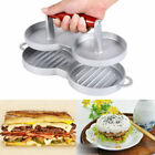 2-Slot Burger Press Hamburger Meat Beef Grill Double Patty Maker Kitchen Mold