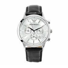 Emporio Armani Stainless Steel Case Silver Band Wristwatches