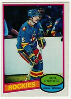 1980 81 ROB RAMAGE ROOKIE RC OPC O PEE CHEE COLORADO ROCKIES CARD #213