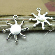 4 Tibetan Silver  Charms  sun  Jewellery Making Crafts uk stock fast