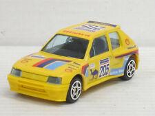 Peugeot 205 turbo 16 in gelb Nr.205, ohne OVP, Bburago Street Fire, 1:43