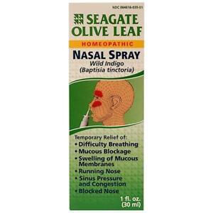 Seagate Olive Leaf Nasal Spray 1 fl. oz   My Natural Life