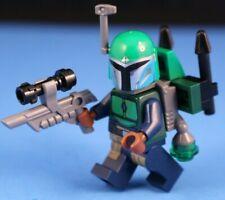 LEGO® STAR WARS™ 75267 Green MANDALORIAN Minifigure™ +Jet Pack 100% LEGO NO CAPE