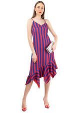 RRP €435 MARQUES' ALMEIDA Asymmetric Hem Dress Size S Striped Made in Portugal