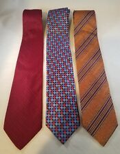 3 ERMENEGILDO ZEGNA Silk Ties Neckties