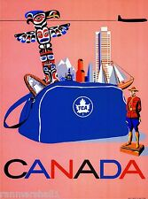 Canada Vancouver Toronto Montreal Canadian Vintage Travel Advertisement Poster