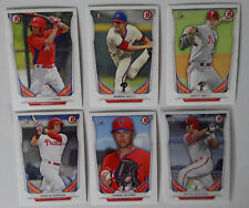 2014 Bowman Draft Philadelphia Phillies Team Set 6 Baseball Cards