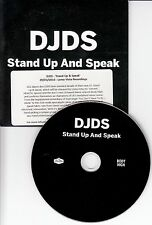 DJDS Stand Up And Speak 2016 UK 10-track promo CD