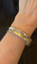 Tiffany & Co. 925 Sterling Silver 1837 Collection Cuff Bracelet 1997