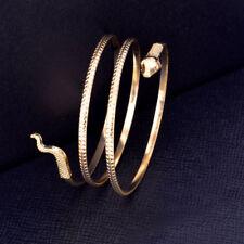 Women Bracelet Snake Spiral Upper Arm Cuff Armlet Bangle Alloy Anklet