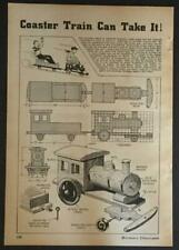 Wooden Coaster Train Locomotive & Freight Car 1941 HowTo build PLANS