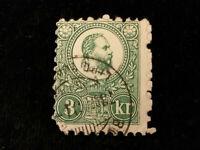 Ungarn Österreich ab 1871 - König Franz Josef +  Wappen Ungarns   3 Kr.   Lot 3.