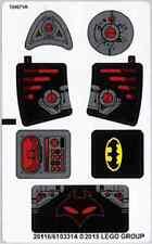 LEGO Batman BLACK MANTA SEA STRIKE Replacement STICKER SHEET Set #76027  NEW
