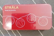 Ikea Strala String Lights In Tin Fairy Lights Brand NEW Sealed Green
