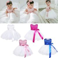 Flower Girl Tutu Dress Toddler Baby Birthday Wedding Princess Pageant Party Gown