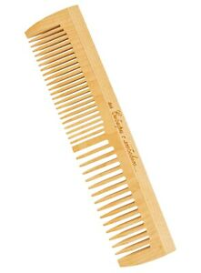 Wood Hair Comb Birch Natural Wide/Fine Tooth For Detangling  Anti-Static