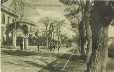 VELLETRI - ROMA  VIALE PONTE ROSSO VIAGGIATA 1922 RARA BINARI TRAM cartolina