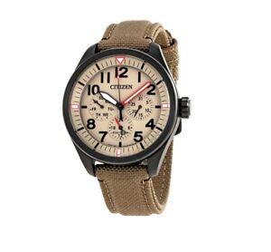 *BRAND NEW* Citizen Men's Chandler Multi-Function Beige Dial Watch BU2055-08X