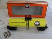 Lionel O/O-27 Scale TCA National Toy Train Museum Modern 1-D Tank Car #6-52243