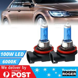 2x White H11 12V 55W Fog Xenon Gas Halogen Bulb Light Universal Car Head Lamp AU