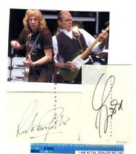 Status Quo vintage signed pages AFTAL#145