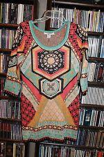 Flying Tomato Knit Kaleidoscope Sweater Dress Ladies M NEW Mint Coral (bin62)