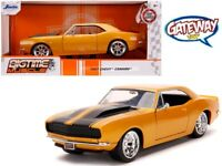 1/24 Jada BIGTIME MUSCLE 1967 Chevrolet Camaro & Black Stripes Gold Orange 31866