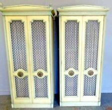 Pair of French Style Paint Armoires