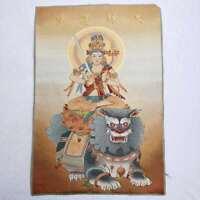 "36"" Tibet Tibetan Cloth Silk Rulai Manjusri Bodhisattva Tangka Thangka Painting"