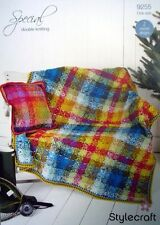 Stylecraft 9255 Knitting Pattern Special DK- Crochet Blanket & Cushion Cover