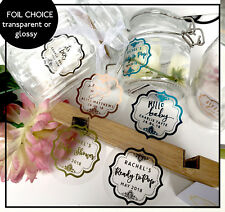 Baby Shower,stickers Ready to Pop Hello baby foil transparent labels colour