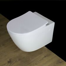 Toilet WC Wall Hung Mounted Cloakroom Soft Close Slim line Seat W4N 24/02/2020