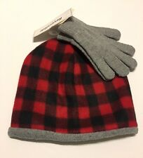Reversible Beanie Hat and Glove Set One Size