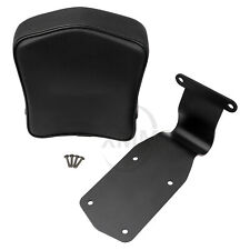 Motorcycle Black Leather Driver Rider Backrest Sissy Bar For Honda VTX 1300 1800