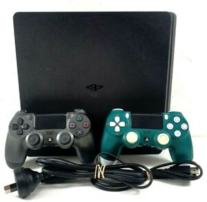 Sony Playstation 4 PS4 CUH-2202A Slim 500GB Black Gaming Console + 2x Controller