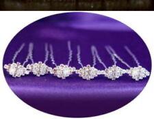 8 Pcs CRYSTAL RHINESTONE WEDDING BRIDAL bridesmaids gifts HAIR PINS #18