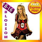B85 Queen of Hearts Alice In Wonderland Fancy Dress Costume Outfit + Tiara