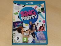 Sing Party Nintendo Wii U UK PAL **FREE UK POSTAGE**