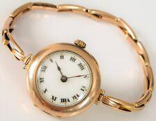 ANTIQUE 1920 ART DECO LADIES ROLEX WRIST WATCH 9K ROSE GOLD CASE BRITANNIC BAND