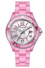 Invicta Women's 30353 Anatomic Quartz 3 Hand White, Pink Dial Watch