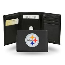 Pittsburgh Steelers NFL Team Logo Embroidered Leather TRIFOLD Wallet