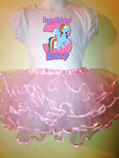 My Little Pony Party Dress Birthday Rainbow D 2pc tutuset 1T,2T,3,4,5,6,7,8,9