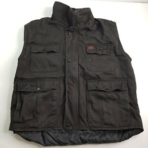 Huss Black Biker / Fishing / Hiking / Motor Vest with Cargo Pockets Size L Large