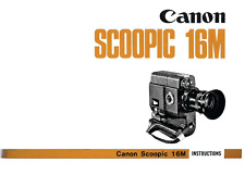 Canon Scoopic 16M - Manual Instructions - Manuel - Camera 16mm - 41 pages