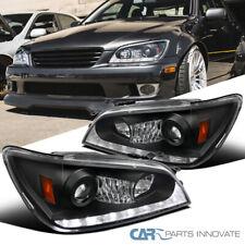 Para 01-05 Lexus IS300 Preto Integrada Led + Par de sinal Projector Headlights
