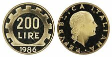 ITALY 200 LIRE 1986-R (GEM PROOF) *RARE PROOF ISSUE*