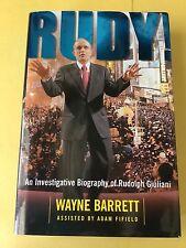 Rudy! An Investigative Biography Of Rudolph Giuliani. Hardbound W/Dust Jacket