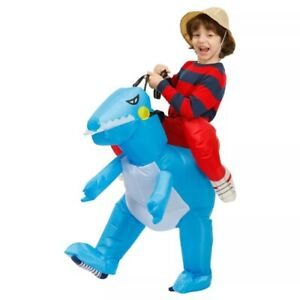 Kids Inflatable Dinosaur Costume Party Cosplay Funny Costumes Animal Child Suit
